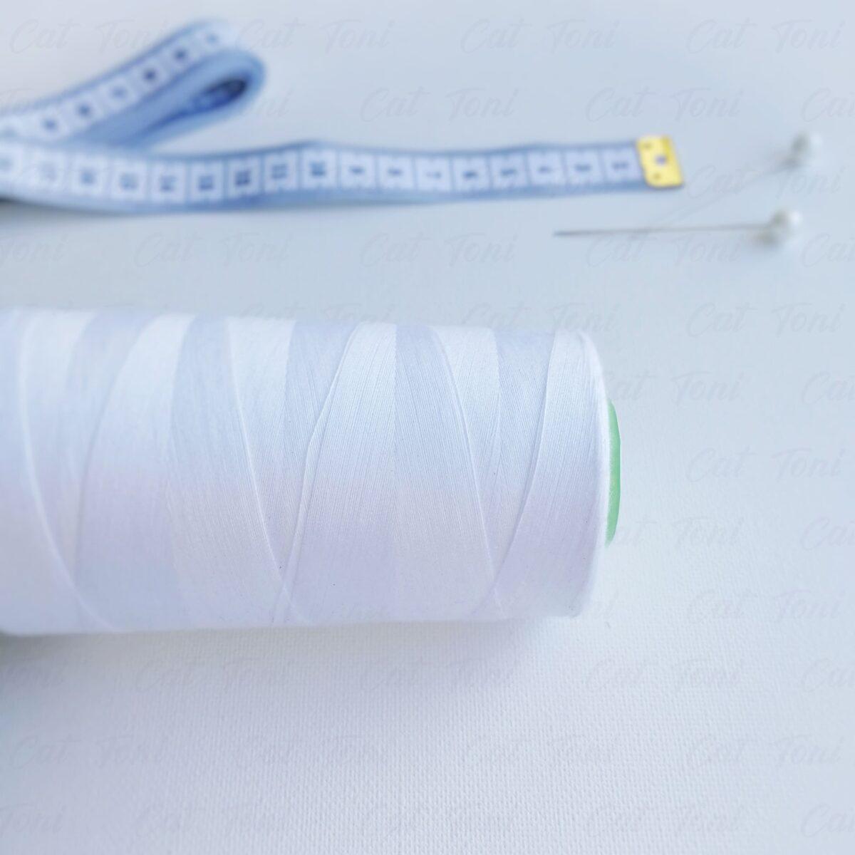 Швейная Купить Белая нитка бобина (5000ярд)