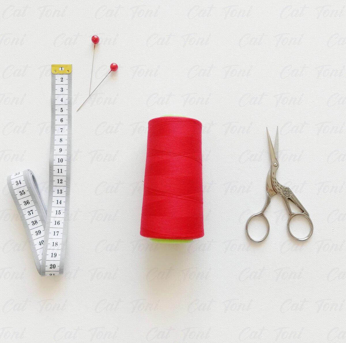 Красная нитка бобина 5000 ярдов