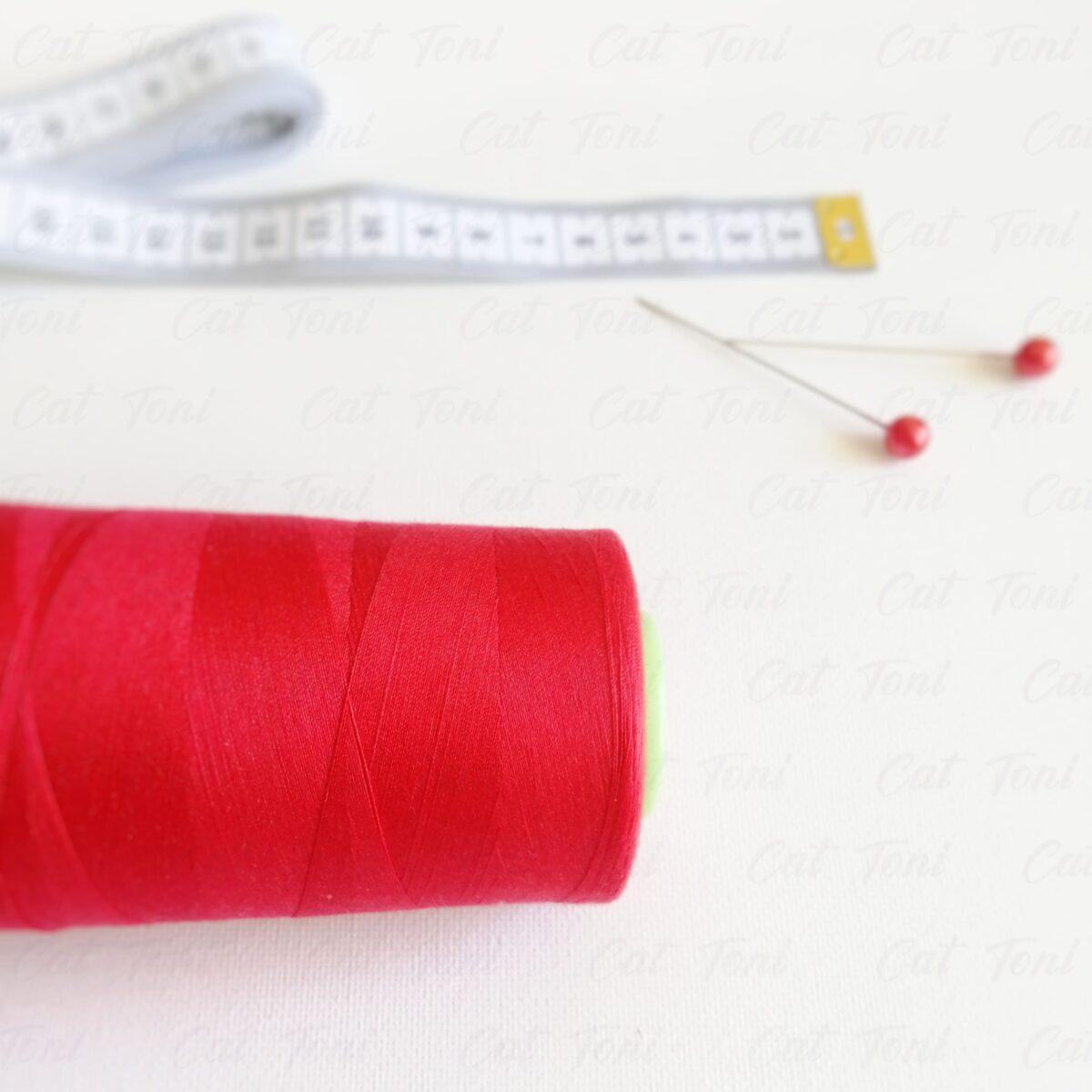 Купить Красная нитка бобина 5000 ярдов