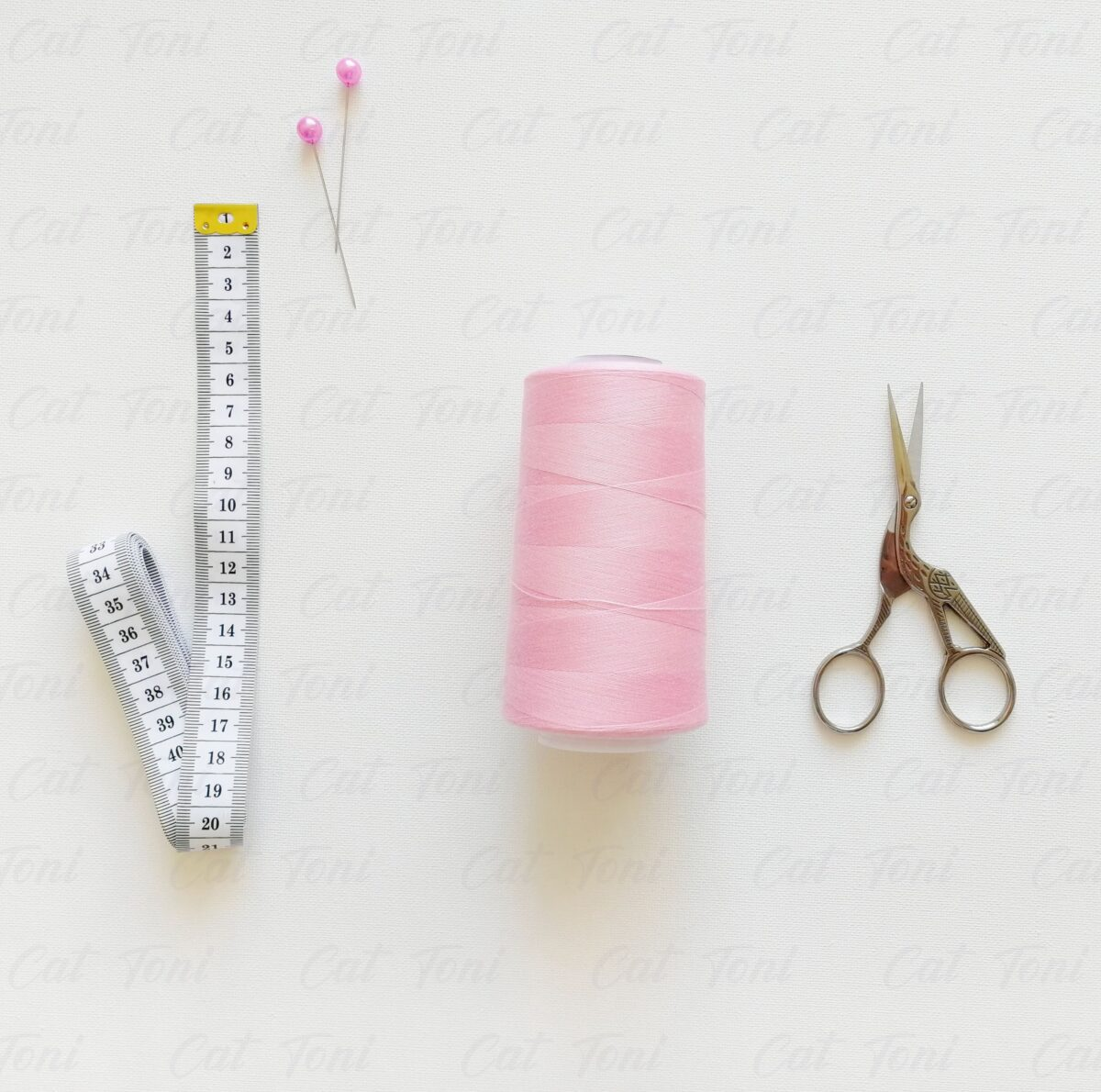 Розовая нитка бобина 5000 ярдов