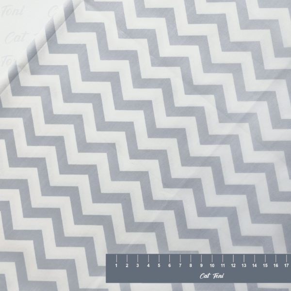 Светло серый зигзаг геометрия хлопок