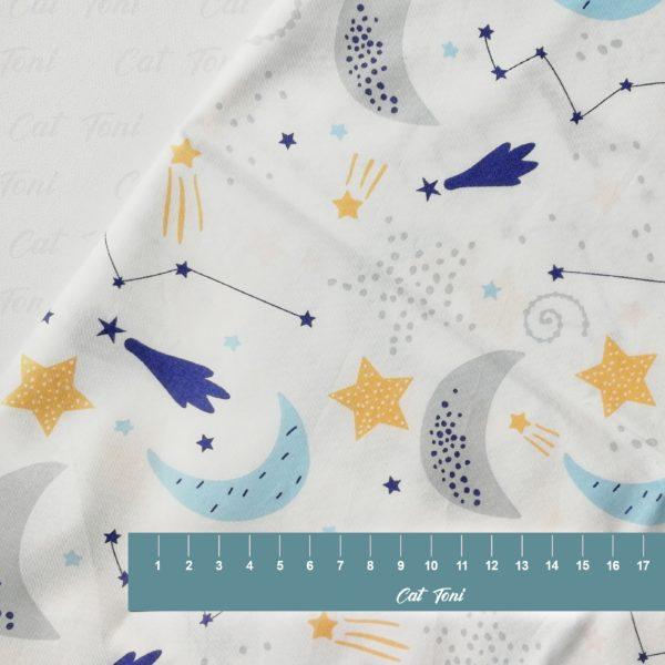 Звезды и кометы хлопок детский